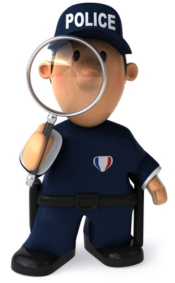 Police mag glass