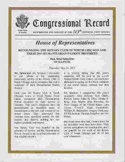 Copy of Congression Record Citation
