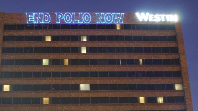 End Polio Now Lighting