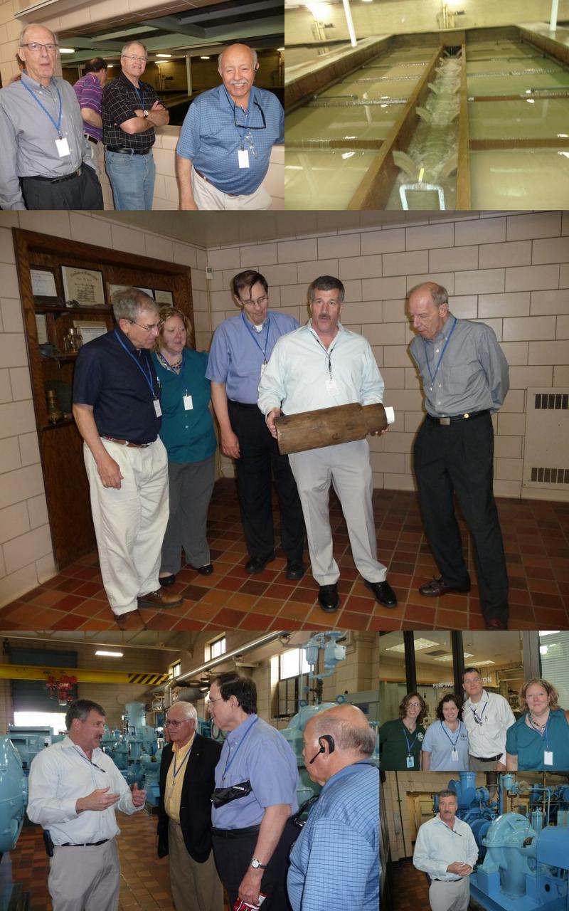 Colage of Evanston Water Plant Visit