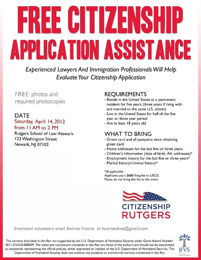 Citizenship Rutgers Flyer - Newark