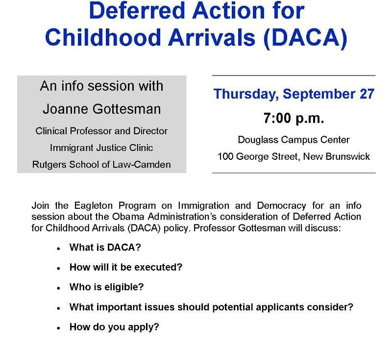 Deferred Action for Childhood Arrivals Info Session