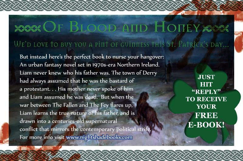 Blood and Honey ebook give away