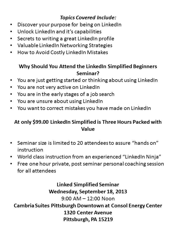 LinkedIn Beginner Seminar