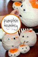 pumpkin mummies