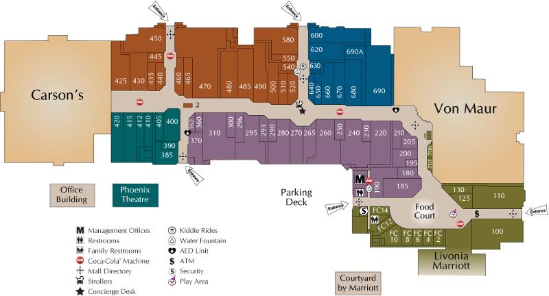 Laurel park mall map