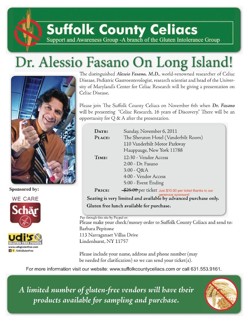 Dr Fasano Event Details
