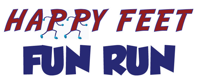 Happy Feet Fun Run logo