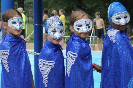 Superhero relay team