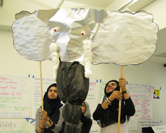 ELTA UAE 3-person elephant puppet