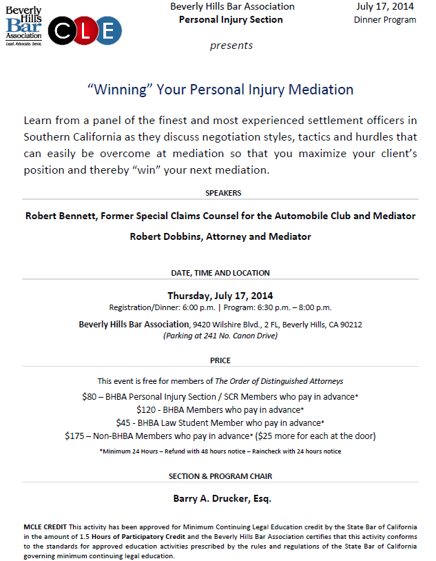 "Personal Injury: ""Winning"" Your Personal Injury Mediation"