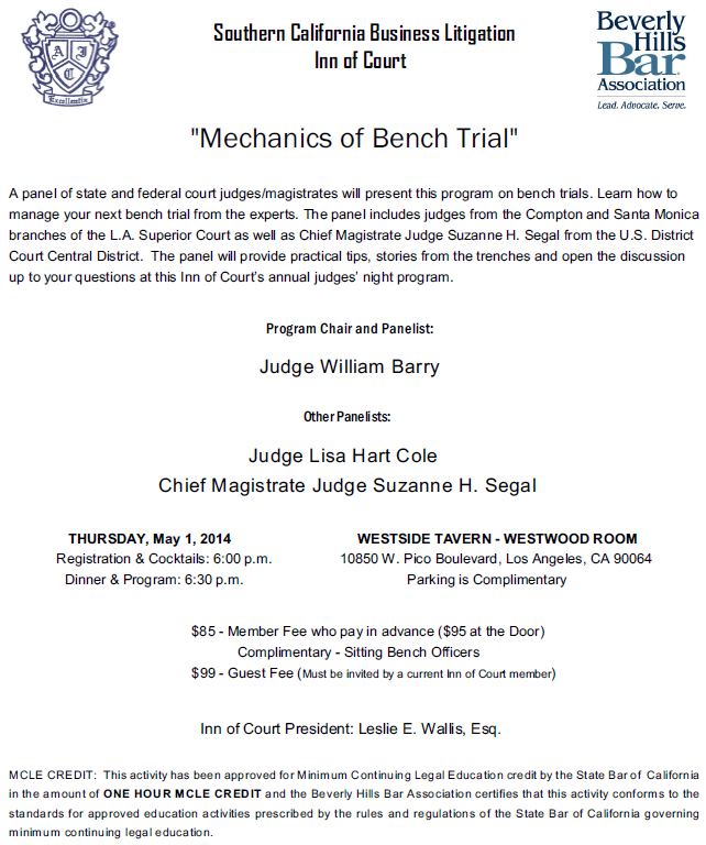 Mechanics of Bench Trial