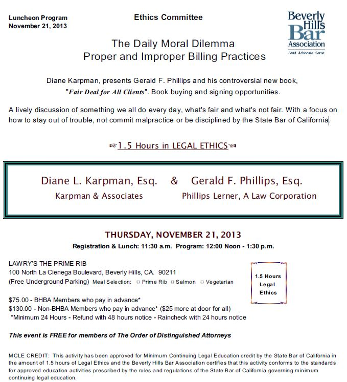 11/21 - The Daily Moral Dilemma Proper and Improper Billing Practices