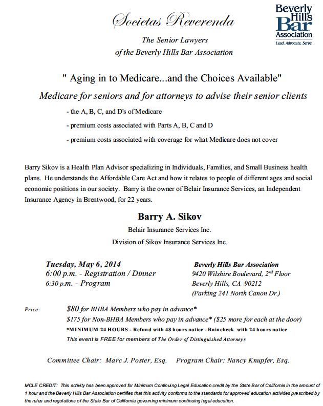 Societas Reverenda: Aging in to Medicare...and the Choices Available