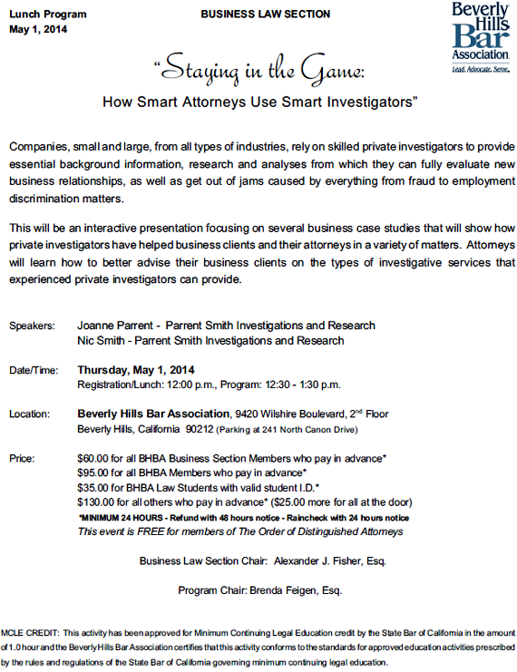 Staying in the Game: How Smart Attorneys Use Smart Investigators