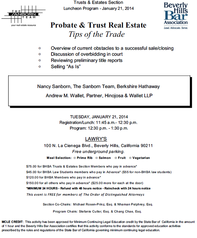 Probate & Trust Real Estate: Tips of the Trade