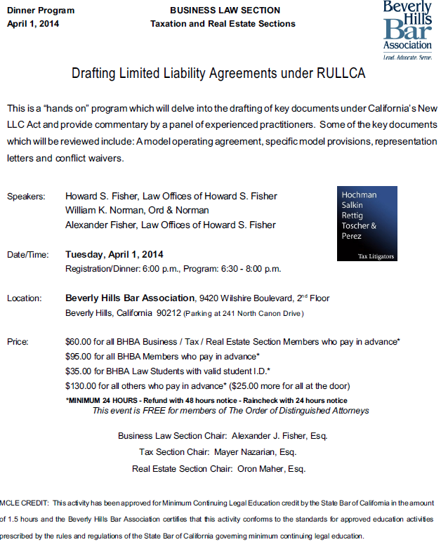 Drafting Limited Liability Agreements under RULLCA