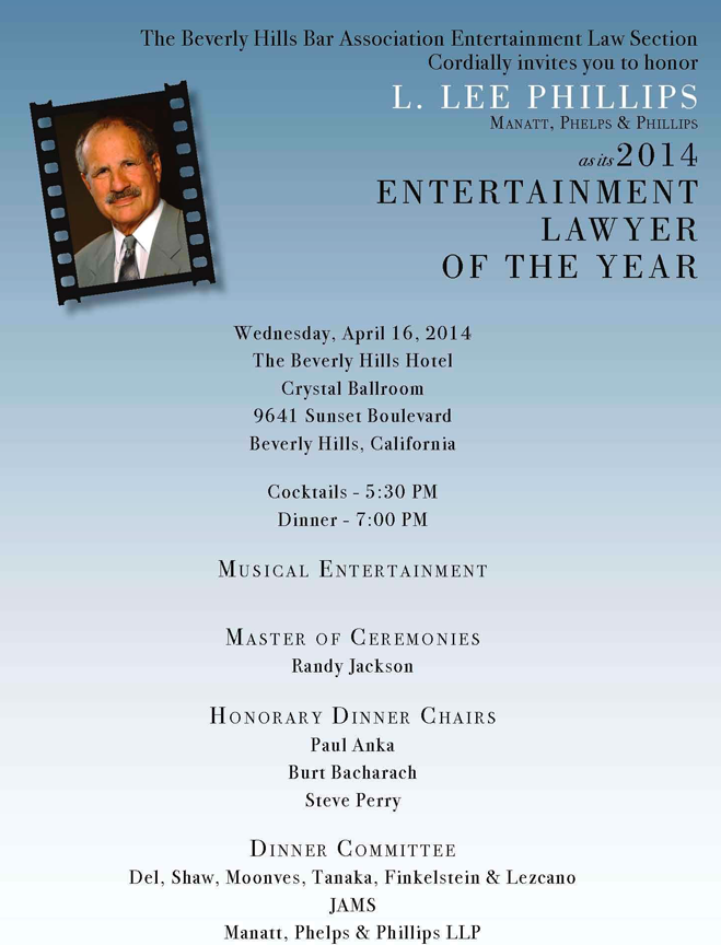 04/16 Entertainment Lawyer of the Year 2014