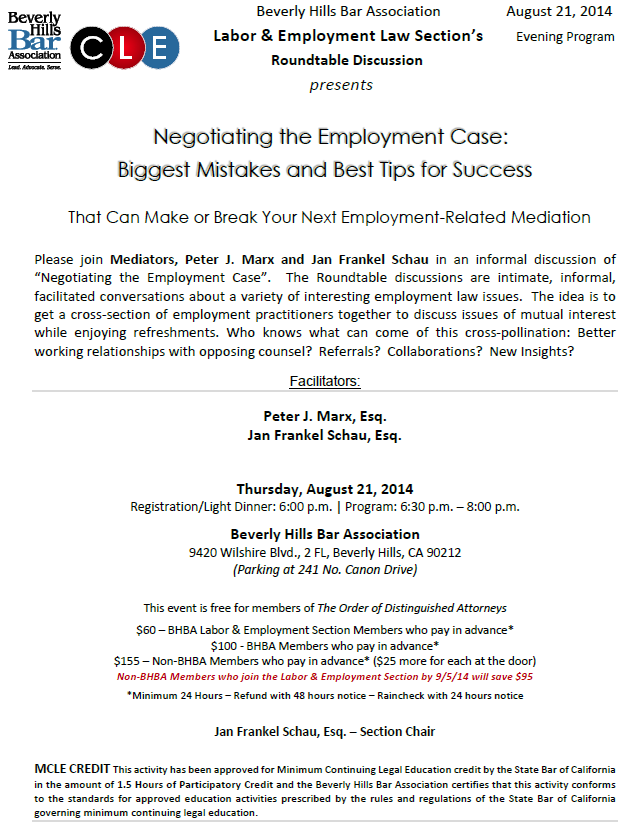 Negotiating the Employment Case: Biggest Mistakes and Best Tips for Success