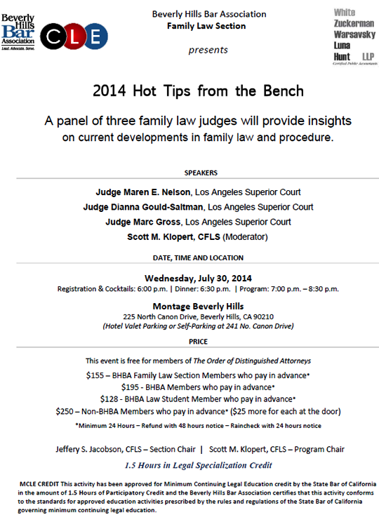 2014 Hot Tips from the Bench