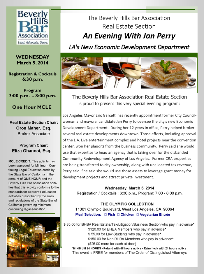 An Evening With Jan Perry LA's New Economic Development Department