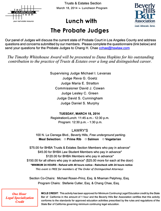 The Probate Judges