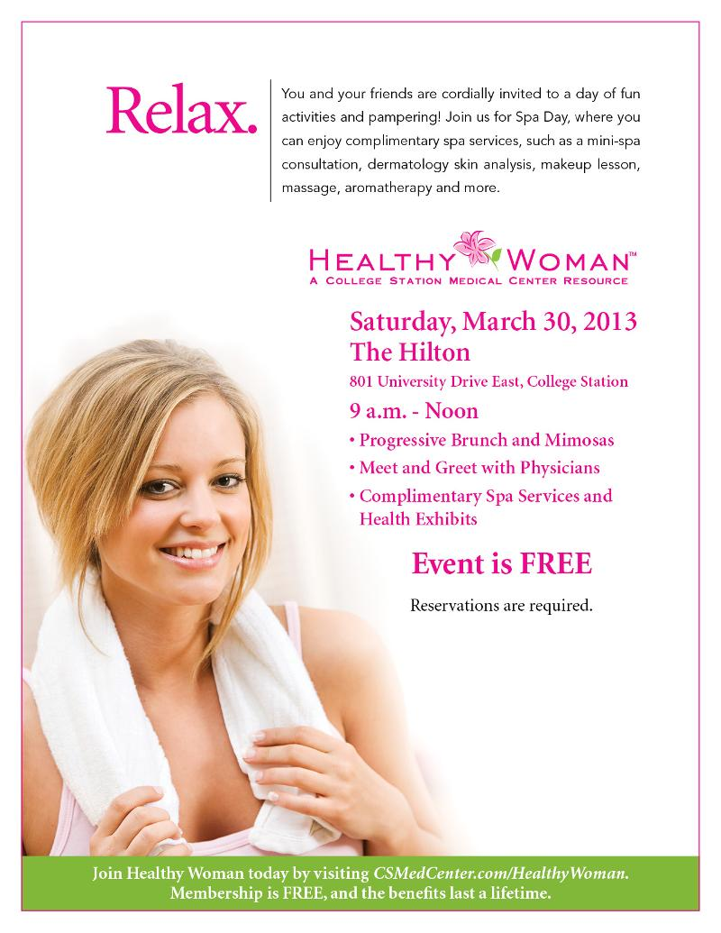 Healthy Woman Spa Day