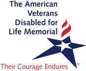 The American Veterans Disabled for Life Memorial Logo 'Courage Endures'