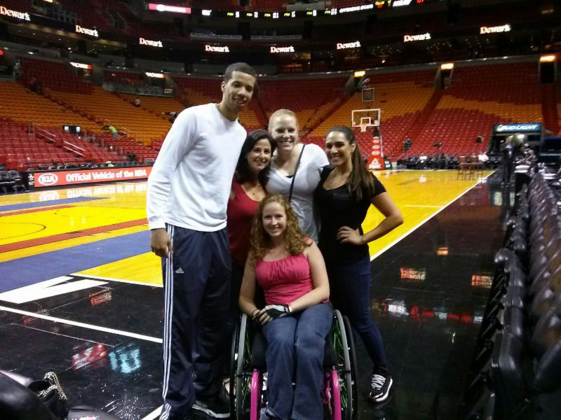 Michael Carter Williams, Rachel, Skylar, Angelica, & Stephanie