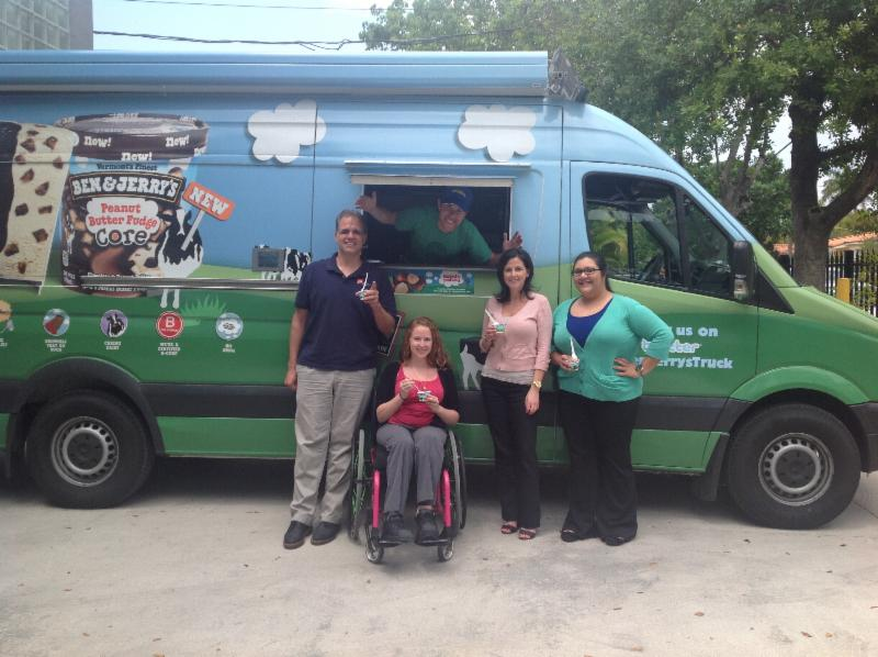 Ben & Jerry's Ice Cream Truck visits our office.