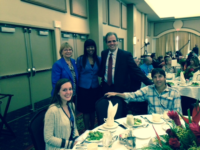 Sam, Sharon, Shanika, Matt, and Enrique at the HOPE luncheon.