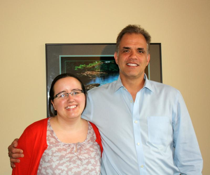 Matt Dietz standing with Tiffany Blackmon, our intern this spring.