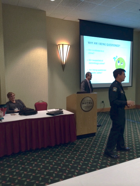 Dr. Diane Adreon, Matthew Dietz, and Lt. Bart Barta speaking at the 22nd Annual CARD Conference in Orlando, FL