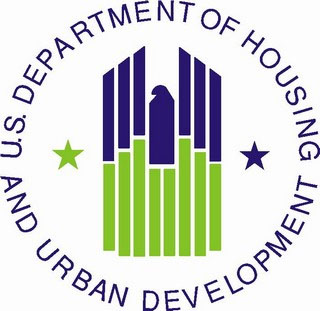Logo for the US Department of housing and urban development (HUD)