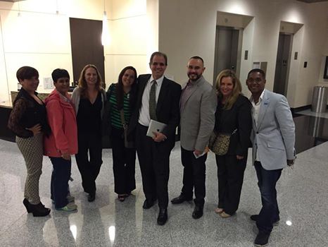 Matt and Debbie standing with Save Dade Supporters after the Doral Commission meeting