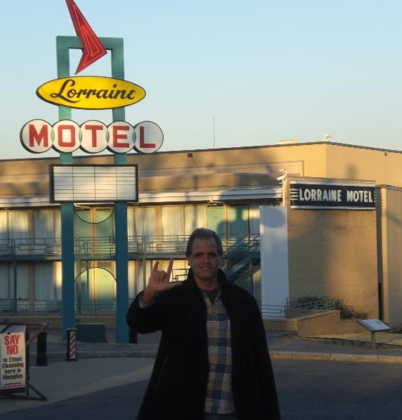 Matt Dietz standing in front of the Lorraine Motel in Memphis, TN