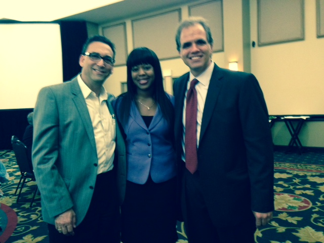Robert Fine, Shanika Graves, and Matt at the HOPE luncheon.