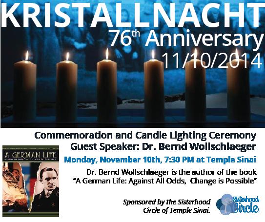 Kristallnach Commemoration