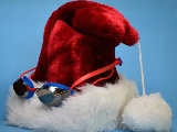 Santa hat with goggles