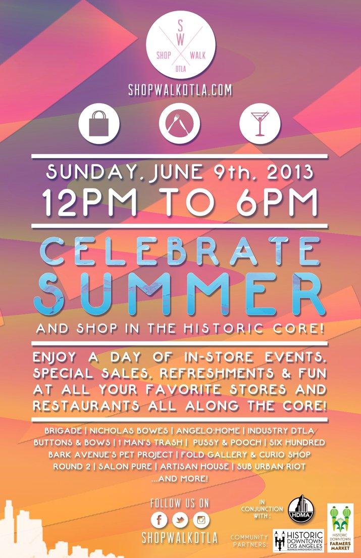 ShopWalk DTLA Summer flyer w participants
