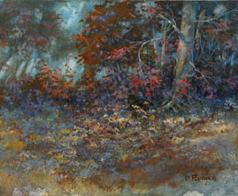 Popovich Painting-Autumn Romance in Brown County