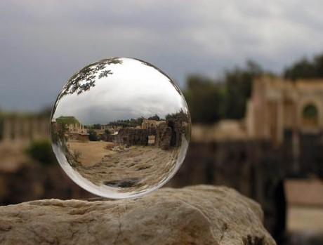 mirror ball reflection