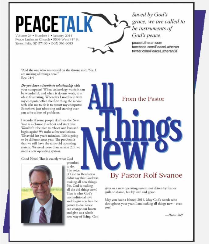 PeaceTalk, January 2014