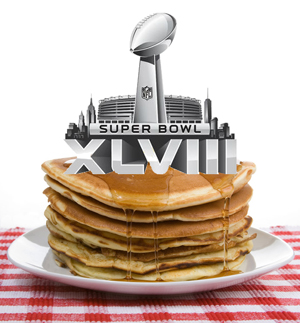 Super Bowl Sunday Pancake Day