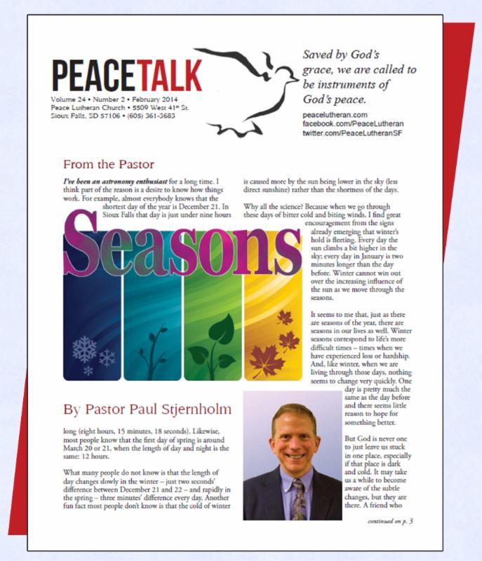 PeaceTalk, February 2014