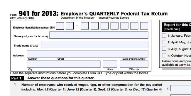 941 form 2013  Dynamics GP Payroll Update News