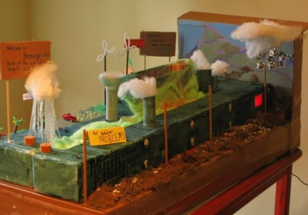 Gunston display - air pollution