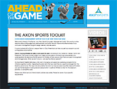 Axon Ahead of the Game Website
