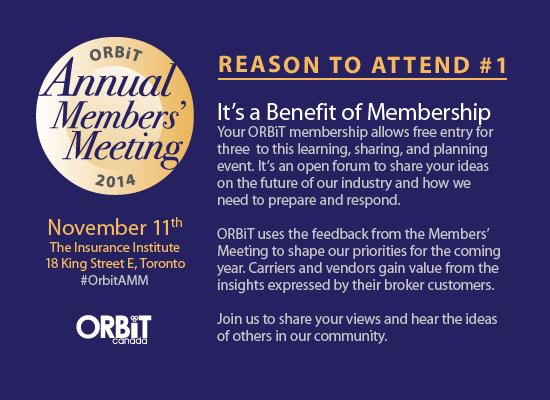 ORBiT Annual Members' Meeting: Reason to attend #1