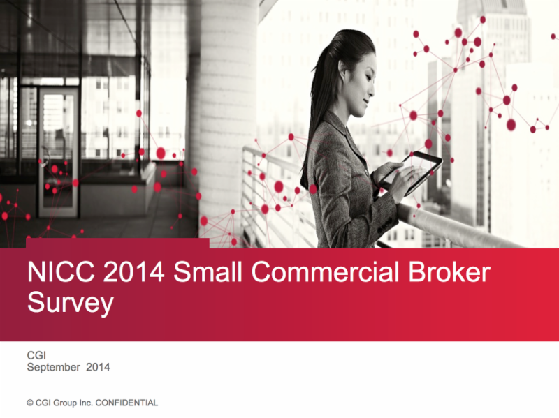 View the results of the NICC 2014 Small Commercial Broker Survey